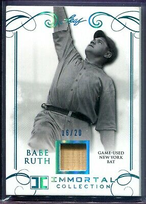 Babe Ruth 2017 Leaf Immortal Collection Game Used Relic #yb-27 #16/20 Yankee Bat