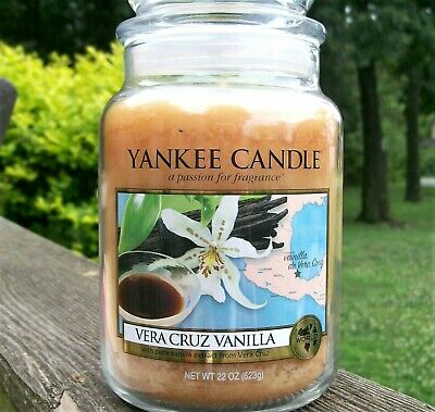 "Yankee Candle Retired World Journeys ""vera Cruz Vanilla""~ Large 22 Oz ~very Rare"