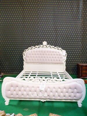 Stock ~ Super King Chatelet® Bed Gothic Ivory Cream French Chesterfield Style
