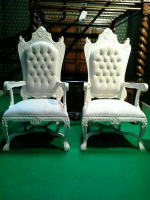 tall all white designer wedding prop music video movie chair armchair sofa