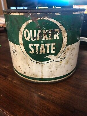 Vintage Early Quaker State Motor Lubricant Oil Can