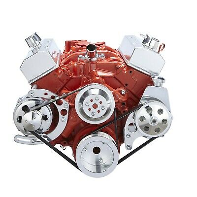 Chevy Small Block Serpentine Conversion Kit 283 302 305 350 400 Long Water Pump