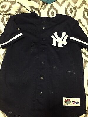 Vtg Authentic Diamond Collection New York Yankee Bernie Williams Mlb Jersey Sz M