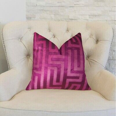 "Plutus Cesire Velvet Maze Handmade Throw Pillow, (double Sided  12"" X 20"")"