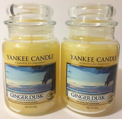 Yankee Candle Ginger Dusk Yellow Wax Scented Candles 2 Count Set 22 Oz. Each