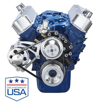 Small Block Ford 351w Serpentine Conversion Kit Alternator Only Windsor Billet