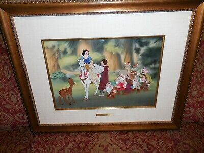 """Snow White & 7 Dwarfs """"happy Ever After"""" Animation Limited Edition Cel"""
