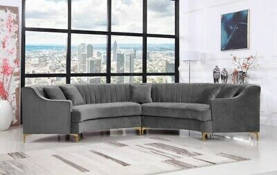 Meridian Jackson Contemporary Sofa Sectional Living Room Set. Choice Of 3 Colors