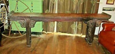 """Antique Ming Dynasty Long Tea Table 102"""" X 36.6"""" X 15"""" - Extremely Hard To Find!"""