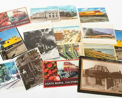 Lot Of Vintage & Modern Railroad Train Postcards Western California Southern