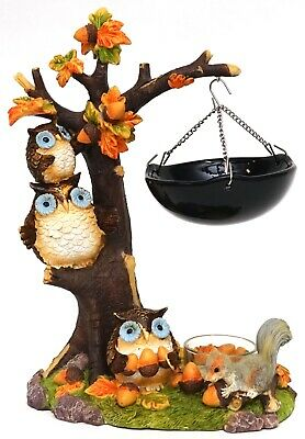 New Yankee Candle Fall Tree & Owls Hanging Warmer Tart Burner