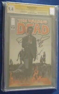 Image The Walking Dead Comic Book Signature Series Issue #61 Cgc 9.4 Ss 5 Chew