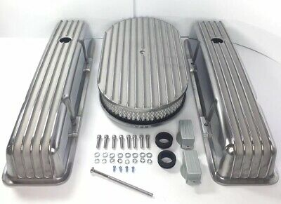 Small Block Chevy Aluminum Finned Tall Valve Covers W/ Finned 15