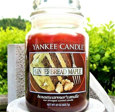 "Yankee Candle Retired ""gingerbread Maple"" Deerfield~large 22 Oz~white Label~rare"