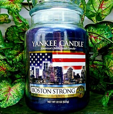 "Yankee Candle Retired 2013 ""boston Strong""~limited Edition~large 22 Oz.~rare~new"