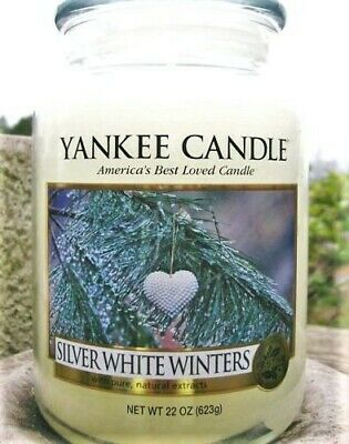 "Yankee Candle Retired ""silver White Winters"" My Favorite Things~large 22 Oz~rare"