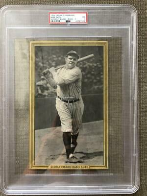 1934 Goudey Premiums R309-1 Babe Ruth New York Yankee Psa 1 Graded Baseball Card
