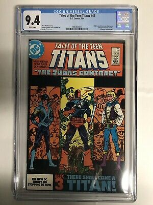 Tales Of The Teen Titans 44 Cgc Graded 9.4