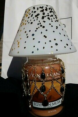 Yankee Candle Egyptian Musk Large Classic Glass Jar Shade Jar Necklace 3pc New