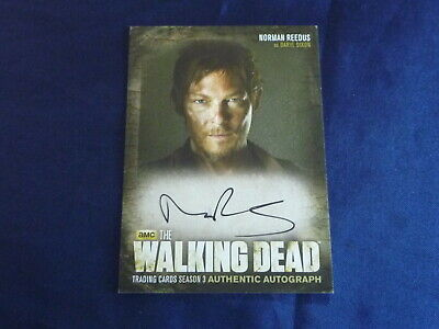 The Walking Dead Autograph A2 Card 2013 Norman Reedus Daryl Dixon Season 3