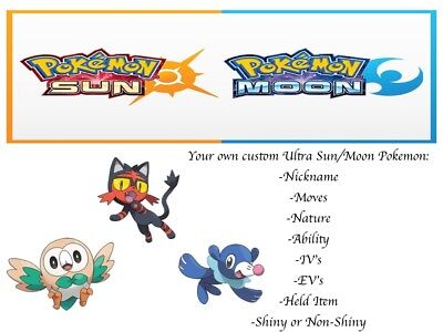 Pokemon Sun and Moon Ultra Sun and Moon Alola Starter Pack Litten Rowlet Popplio