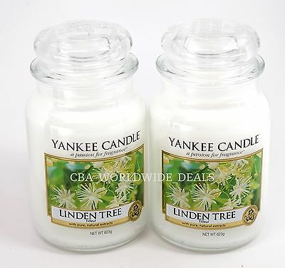 New Lot Of 2 Yankee Candle Linden Tree Large 22 Oz Jar Candles Not Released