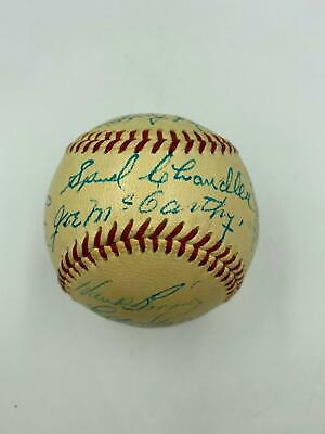 Stunning 1948 Yankee Stadium 25th Anniversary Signed Baseball Joe Dimaggio Jsa