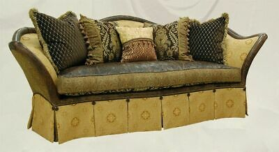 Vhtf Jeff Zimmerman Collection Sofa Couch Whimsical Leather Designers Guild