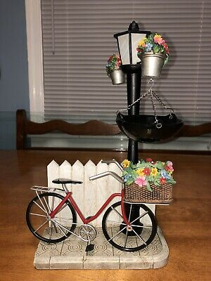 New Yankee Candle Bicycle & Lamppost Tart Burner Rare & Super Hard To Find