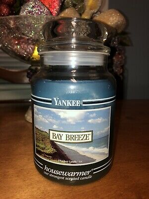 Yankee Candle 22oz Black Band  Bay Breeze Rare Hard To Find Scent And Jar