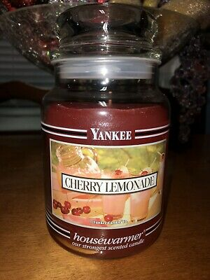 Yankee Candle 22oz Black Band Cherry Lemonade Rare Hard To Find Scent And Jar