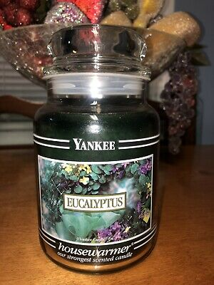 Yankee Candle 22oz Black Band Eucalyptus Rare Hard To Find Scent And Jar
