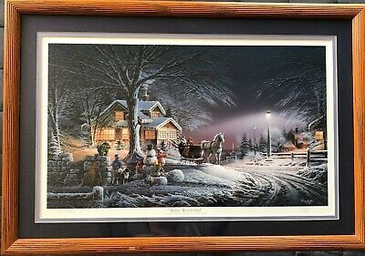 Winter Wonderland By Terry Redlin Artist Signed Limited Edition Numbered Print