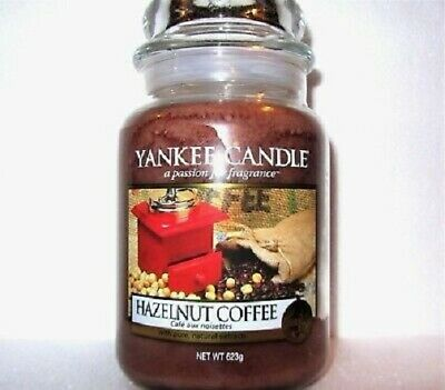 "Yankee Candle Retired ""hazelnut Coffee""~ Large 22 Oz ~ European ~ Rare ~ New"