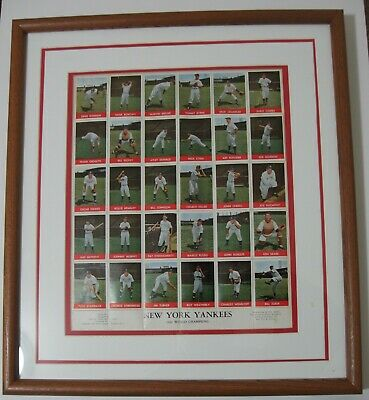 1944 Ny Yankee Stamp Sheet Of The 1943 Nyy World Champs-complete Set -ex-rare