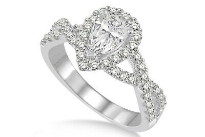 Valentine's Day 0.71 Ctw Diamond Semi-mount Ring In 14k White Gold
