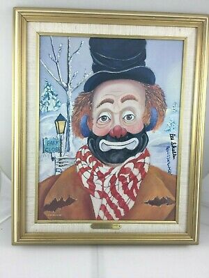 """""""winter Wonderland"""", A Red Skelton Oil On Canvas Lithograph, Signed, Number, Coa"""