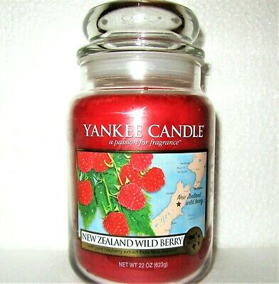 "Yankee Candle Retired World Journeys ""new Zealand Wild Berry""~ Large 22 Oz ~rare"