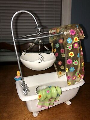 New Yankee Candle Bathtub / Shower Tart Burner Rare & Super Hard To Find