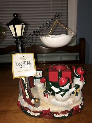 New Yankee Candle Snowman Musical / Rotating Tart Burner Hard To Find