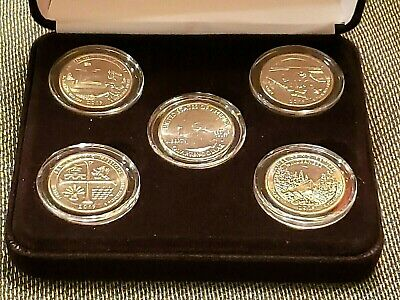 2019-w West Point Mint Complete Coin Set Encapsulated W/ Black Felt Display Box