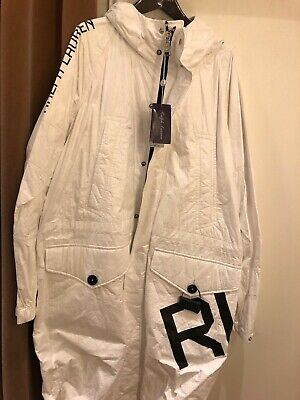 ralph lauren purple label nwt white hooded all weather sailing jacket coat xl