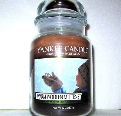 """Yankee Candle """"warm Woolen Mittens""""~my Favorite Things~large 22 Oz~white Label"""