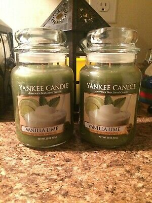 Yankee Candle Vanilla Lime Large Candles Bundle Set Of 2 Brand New