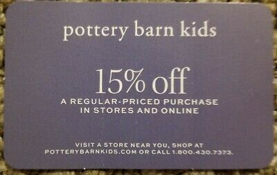 Pottery Barn Kids Coupon 15% Off Regular Priced Purchase; Expires 5/31/20