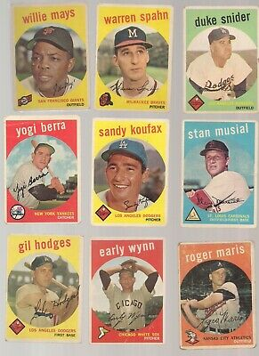 1959 Topps Baseball Set Very Good Condition (vg)