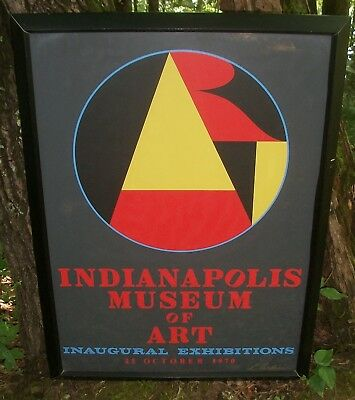 Large Signed, Framed 1970 Robert Indiana Serigraph, Indianapolis Museum Of Art