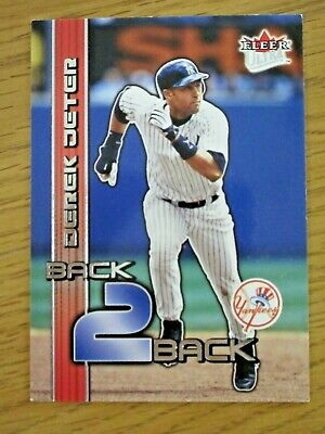 Derek Jeter 2003 Fleer Ultra Card #1 Back 2 Back New York Yankee B2b 0472 / 1000