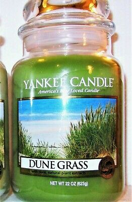 """Yankee Candle Retired """"dune Grass""""~ Fresh~ Large 22 Oz ~ White Label~ Rare ~ New"""