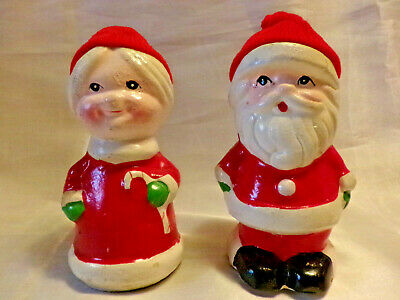 """Gorgeous Truly """"vintage"""", Mr. And Mrs. Santa Claus Holiday Figurines"""